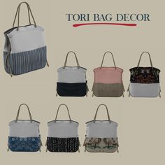 Lana CC Finds - Tori Bag Decor by Leosims