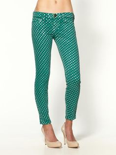 DIY polka dot jeans. Guess what I'm doing with my vacation?