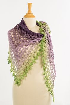 Ravelry: Lavender Cake Shawl pattern by Annelies Baes (Vicarno)