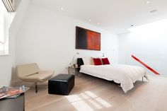 Master Bedroom, Small Mews House in Notting Hill