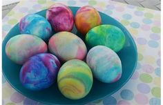 Coloring Easter eggs? Roll out the fun with shaving cream, food coloring