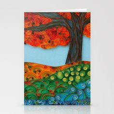 #Tree Stationery Cards. Quilling art by Sari Wurtman