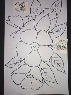 Bead Embroidery Patterns, Applique Patterns, Beaded Embroidery, Hand Embroidery, Easy Fabric Flowers, Rangoli Ideas, Fabric Painting, Coloring Pages, Art Drawings
