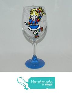 Rainbow Brite wine glass from Custom Creations by Danielle LLC https://www.amazon.com/dp/B0163H10B6/ref=hnd_sw_r_pi_dp_3MiVybSYSXNDJ #handmadeatamazon