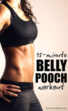 15-minute at-home ab workout to tone your stomach and lose that belly pooch! Abs exercises from Tone-and-Tighten.com