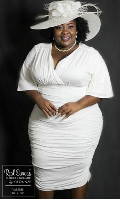 Upgrade date night with our Rumor ruched dress. This plus size ruched dress features an ultra-flattering, curve-conscious skirt and flutter sleeves. White Plus Size Dresses, Plus Size Cocktail Dresses, Plus Size Outfits, Plus Size Summer Fashion, Plus Size Fashion For Women, Curvy Women Fashion, Thick Girl Fashion, Look Fashion, Fashion Ideas