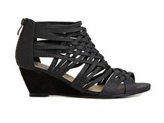Hearts of Darkness by Cri de Coeur Cross Strappy Mini Wedges