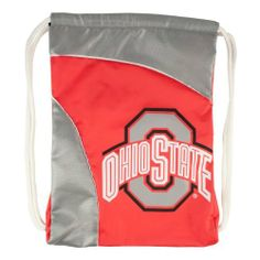 """NCAA Ohio State Curve Cinch by Littlearth. $10.21. Measures: 13"""" x 1"""" x 18""""; 100% Polyester; Decoration: Screen Print; Wipe Clean with Damp Cloth.  Durable polyester fabric with contrasting """"SporTech"""" fabric in two-tone team color; large, blown out screenprinted team logo; woven locker tag with team logo; thick, 5/8"""" Fat Cord for comfortable use; hanging pocket in interior; """"Property Of"""" nametag on back. Save 32%!"""