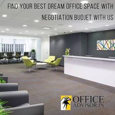 Find your best dream office space with negotiation budget with us.. #Office #space #Lease #Rent http://www.officeadvisor.in/