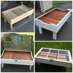 DIY Wood Pallet Window Coffee Table - Crafty Morning