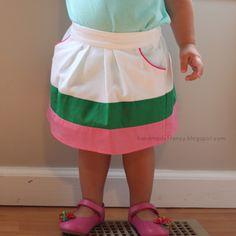 Little Girl Pleated Skirt Tutorial