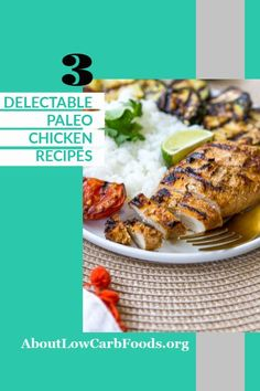 These Paleo Chicken Recipes are delicious. They're easy to make and will become a dinner favorite. Your whole family will love them! Paleo Recipes Dinner Chicken, Low Carb Dinner Recipes, Entree Recipes, Breakfast Recipes, Vegetarian Recipes, Keto Recipes, Healthy Food Choices, Good Healthy Recipes, Healthy Meals