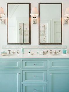 To da loos: A dozen fun Blue bathroom vanities - Robin's Egg Cabinets.