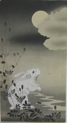 Better get the Holy Hand Grenade! Ohara Koson - Hare and Moon