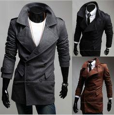 pocket and lapel square/ men's fashion | 2012 Autumn New Fashion ramp pocket men's lapel double-breasted woolen ...