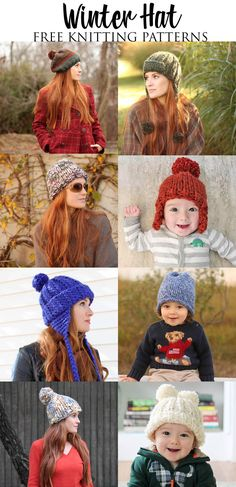 Free Knitting Patterns for Winter Hats