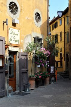 Cortona, Tuscany, Italy.A garden when space is very limited. Really like this.