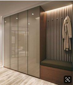 Gorgeous 45 Creative Bedroom Wardrobe Design Ideas That Inspire On Wardrobe Room, Wardrobe Design Bedroom, Bedroom Bed Design, Bedroom Furniture Design, Home Room Design, Home Interior Design, House Design, Hallway Furniture, Kitchen Wardrobe Design