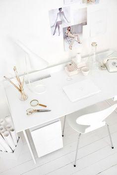 All white desk | Abstracta