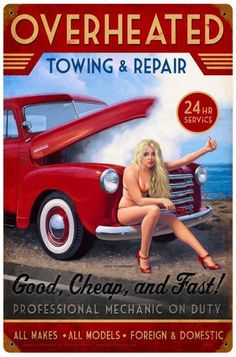 OVERHEATED REPAIR Metal Sign 12 x 18 Inches