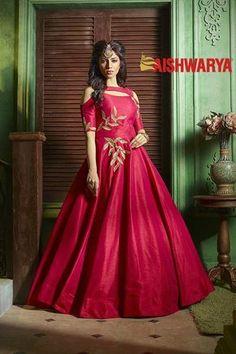 Picture of Catchy deep red designer anarkali dress Designer Anarkali Dresses, Designer Party Wear Dresses, Kurti Designs Party Wear, Designer Gowns, Indian Designer Wear, Indian Gowns Dresses, Indian Fashion Dresses, Pakistani Dresses, India Fashion