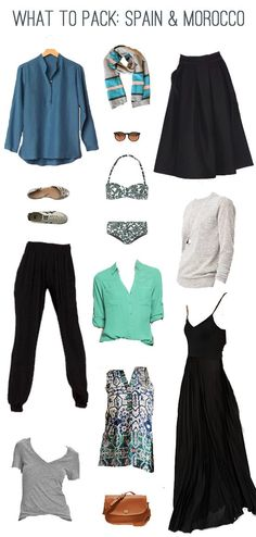 EmilyStyle: What to Pack: Spain & Morocco In Summer