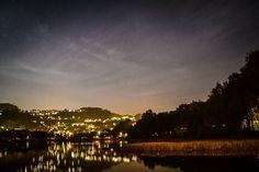 Orrtuvatnet at night.