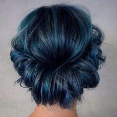 Are you looking for dark blue hair color for ombre and teal? See our collection full of dark blue hair color for ombre and teal and get inspired! Dark Blue Hair, Hair Color Blue, Denim Blue Hair, Dark Blue Eyes, Eye Color, Smoky Blue Hair, Dark Pastel Hair, Dark Hair Colours, Dark Purple