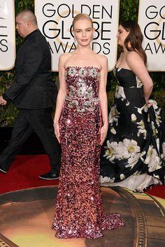 Kate Bosworth de Dolce & Gabbana. Globos de oro 2016 #GoldenGlobeAwards