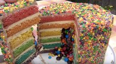 RAINBOW PINATA CAKE - Simple Home Made Cake Batter Rainbow Pinata, Pinata Cake, Cake Batter, Homemade Cakes, Simple House, Birthday Cakes, Breakfast, Desserts, Food