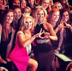 Miss USM and former Miss USM representing Kappa a Delta!