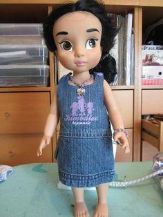 animators doll robe en jean recup'