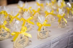 White chocolate cast member name tag escort cards at a Disney wedding