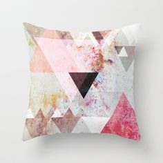 Graphic 3 Throw Pillow by Mareike Böhmer Graphics - $20.00