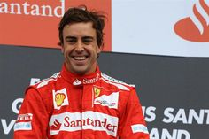 Race winner Fernando Alonso (ESP) Ferrari celebrates on the podium.  Formula One World Championship, Rd10, German Grand Prix, Race, Hockenheim, Germany, Sunday, 22 July 2012    source: http://www.formula1.com/news/headlines/2012/7/13627.html#
