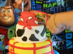 "Toy Story ""Woody"" themed cake."