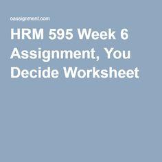 HRM 595 Negotiation Skills Full Course