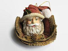 Vintage Christmas Figurine  Santa Claus Figurine  by BeauBardot