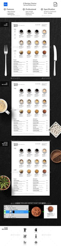 Minimalist Photography Coffee Menu - #Food #Menus Print Templates Download here: https://graphicriver.net/item/minimalist-photography-coffee-menu/19719896?ref=alena994