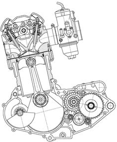ariel 350 single engine diagram