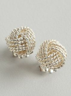 Tiffany  Co. silver Twist Knot stud earrings