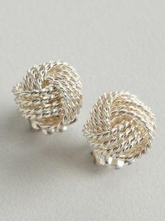 Tiffany  Co. silver Twist Knot stud earrings