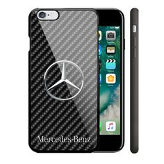 Luxury Mercedes Benz Black Carbon iPhone 8 8+ X Hard Plastic Protect Case #UnbrandedGeneric