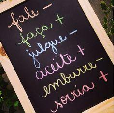 Talk less, do more. Judge less, accept more. Emburre less, smile more. School Motivation, Study Motivation, Pinterest Tumblr, Story Instagram, Motivational Phrases, Lettering Tutorial, Good Thoughts, Chalkboard, Positivity