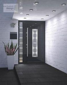 Aluminium Schüco ADS 70.HI  Haustür, Eingangstür - Anthrazit + Seitenteile