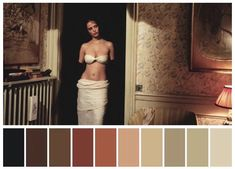 Color is a uniquely powerful tool in the art of cinematic storytelling. We're all naturally sensitive to color and its impact doesn't require our conscious Movie Color Palette, Colour Pallete, Colour Schemes, Color Palettes, Cinema Colours, Last Tango In Paris, Little Buddha, Movie Shots, Color Grading