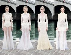 If I were to marry the Christian way, the third from left gown would  be the d-day pick. Hail Givenchy!