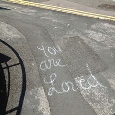 Came across this one Sunday afternoon when walking about on one of the busiest Bristol streets. Really thought a beautiful statement to write on the pavement, just makes you feel really warm inside!