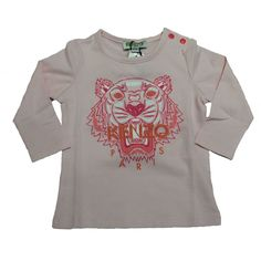 195ecc85c9672 Kenzo Kids Baby Girls Light Pink Top with Tiger Print