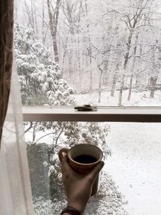"""pearlkillers: """" Woke up to snowfall and coffee. I think cinnamon rolls are on the docket for my to-do list this morning. """""""
